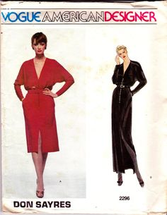1980s Vintage Vogue American Designer by allthepreciousthings, $18.00