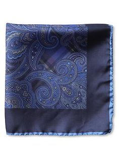 #BRAnnaK #BananaRepublic | Paisley silk pocket square - A true touch of class! Not many men carry a pocket hankerchief anymore, but so very HOT when I see a man with one!