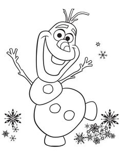 Olaf is a fictional character who appears in Walt Disney Animation Studios' animated film Frozen. Olaf is a snowman created by Elsa. Snowman Coloring Pages, Frozen Coloring Pages, Printable Coloring Pages, Disney Frozen Olaf, Coloring Pages For Kids, Coloring Books, Kids Coloring Sheets, Kids Christmas Coloring Pages, Olaf Drawing