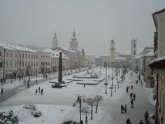 Banska Bystrica in Slovakia Heart Of Europe, Amazing Pictures, World Traveler, Far Away, Hungary, Winter Wonderland, Serenity, Places Ive Been, Paris Skyline
