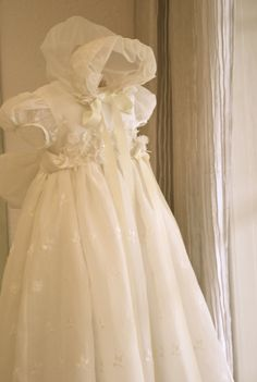 Stunning Christening Gown ~ Gorgeous Baptismal Gown ~  A Coutures by Laura original ~ www.couturesbylaura.etsy.com