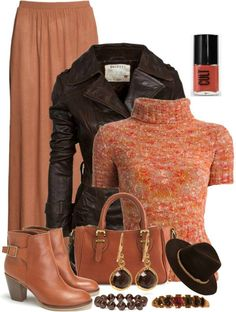 Like the jacket and boots. Love the sweater, except for the turtle neck. No turtle necks!