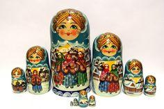 Russian Matryoshka 10pcs The Winter's Tale beautiful by EtsyGrail