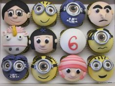 Despicable Me 2 Cupcakes including a special Unicorn...He's so fluffy! ;-)