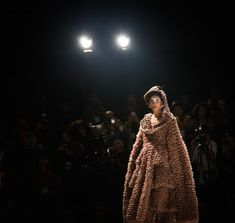 brown kimono in Jorge Salinas fashion show