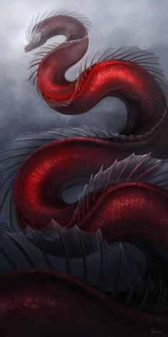 The Red Serpent. Her name is Emarine. She lives in the Silver River that crosses through the Enchanted Star Forest. She protects the river and doesn't let anyone cross it. If someone challenges and she loses, they have authority over her and the river.