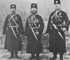 [Ottoman Empire] Hamidiye Cavalry Officers; Vahid, Mahmud and Ziya Bey, 1900s (Hamidiye Süvari Alayı) | by OTTOMAN IMPERIAL ARCHIVES