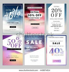 Set of sale banners vector illustration for websites and mobile websites. Product promotion, sale, clearance, online shopping for fashion, cosmetics. Watercolor Circles, Sale Promotion, Promotion Quotes, Sale Banner, Web Banner, Ad Design, Email Design, Cover Design, Graphic Design