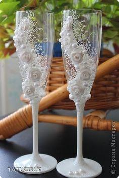 Декор предметов Свадьба Бокалы Неженки   фото 2