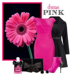"""""""Dream Pink"""" by elli-argyropoulou ❤ liked on Polyvore featuring Adrianna Papell, Roger Vivier, Ann Taylor, Kate Spade, Juicy Couture, Pink, black and hotpink"""
