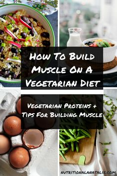 9 Tips For Building Muscle With Vegetarian Diet Plan Tips for building muscle on a vegetarian diet + examples of vegetarian protein sources Protein Snacks, Protein Diets, Vegan Snacks, Healthy Protein, Diet Recipes, Healthy Recipes, Vegetarian Recipes, Vegetarian Sandwiches, Going Vegetarian