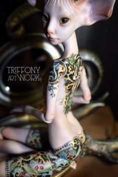 Fantasy   Whimsical   Strange   Mythical   Creative   Creatures   Dolls   Sculptures   ☥   Art doll by Tatyana Trifonova - Love the Tattoos