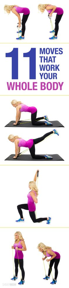 Here's a total body workout with resistance bands. q