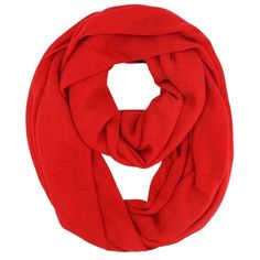 Red Knit Circle Eternity Ring Scarf ($18) ❤ liked on Polyvore featuring accessories, scarves, red, loop scarf, knit tube scarf, red shawl, knit scarves and red infinity scarves