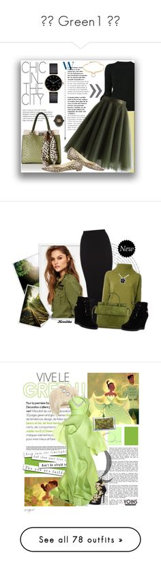 """""""✿⌣ Green1 ⌢✿"""" by prisana1987 ❤ liked on Polyvore featuring Carolina Herrera, Chicwish, Manolo Blahnik, Alexis Bittar, Myku, Gucci, dresses, knee length lace cocktail dress, ruffle dress and frilly dresses"""