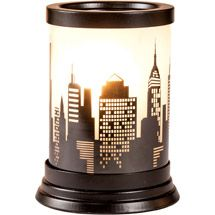 Walmart: Better Homes and Gardens Full-Size Wax Warmer, Cityscape Glass Decal for my TRAVEL ROOM