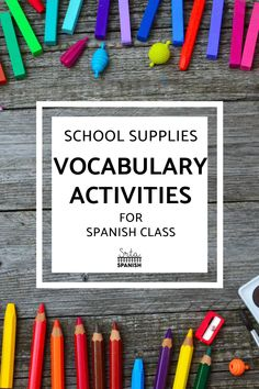 Are you introducing a Spanish student to school vocabulary? Your Spanish classes will love these la escuela activities and lesson plans! It's so much more engaging than a worksheet and gets them thinking about their own classes! Games, classroom displays, projects, and more! If you need a great lesson plan for la escuela in your secondary Spanish classroom, this is it! Middle school and high school students will love this interactive lesson! Click to see more! #spanishclass #laescuela Icebreaker Activities, Vocabulary Activities, Class Activities, Spanish Lesson Plans, Spanish Lessons, Spanish 1, Get To Know You Activities, Back To School Activities, Middle School Spanish