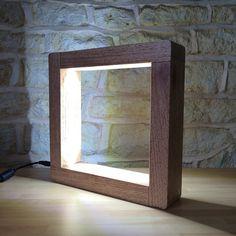 Handmade Modern Desk Lamp Table Light Floor Freestanding Light Lamp Square LED Minimalist  Bespoke Abstract