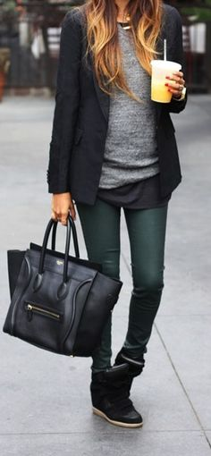 Who said wearing sneakers isn't stylish? We're crushing on the wedge sneaker trend - especially for the cooler months! They're a perfect way to switch up the normal boot routine, plus they're super comfortable! Where would you sport this style?