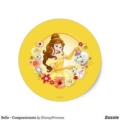 Shop Belle - Compassionate Classic Round Sticker created by DisneyPrincess. Disney Logo, Disney Pixar Up, Cute Disney, Beauty And The Beast Diy, Diy Beauty, Disney Princess Gifts, Minnie Mouse Bow, Christmas Stickers, Christmas Sale