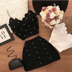 Pin by Evelyn Ortiz on Ropa in 2020 Cute Summer Outfits, Cute Casual Outfits, Pretty Outfits, Stylish Outfits, Girls Fashion Clothes, Teen Fashion Outfits, Teenage Outfits, Outfits For Teens, Mode Kpop