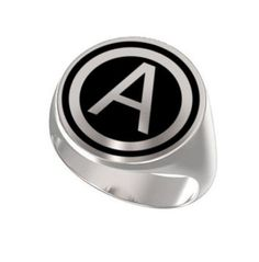Signet Ring, Ring Mens, Personalized Ring, United States, Army Central, Engraved Round Ring, 925 Sterling Silver, Signet Ring, Initial ring https://www.etsy.com/shop/Ronninfinity