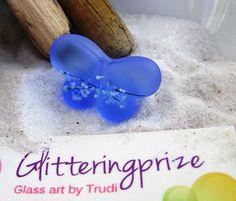 Glass Lampwork Bead Light Blue Kalini by GlitteringprizeGlass