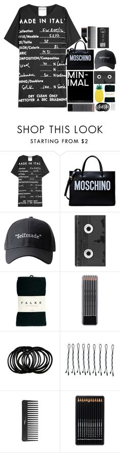 """""""Black heart with a sunny side"""" by living-in-the-seaxx on Polyvore featuring Moschino, Luckies, Falke, BOBBY, Sephora Collection and Miss Selfridge"""
