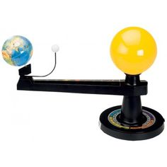 The Orbitor. This is one cool little visual contraption for explaining the earth orbiting the sun, the moon phases, the seasons, etc.
