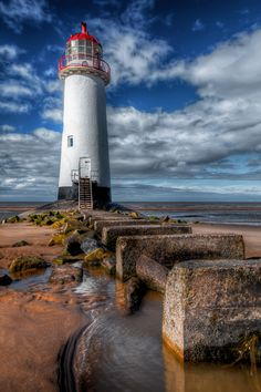 Point of Ayr Lighthouse, Talacre, North Wales, UK