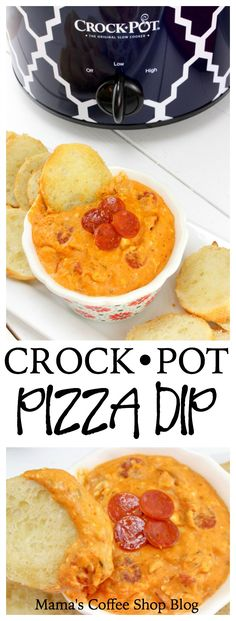 Crock Pot Pizza Dip - An easy, fun, and delicious meal or party snack!