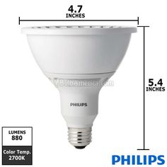 Philips 18w 120v PAR38 Dimmable LED Airflux Technology Light Bulb.  Receive FREE SHIPPING* for this item.