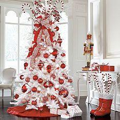 Winter Wonderland Decor Scene. Ways to use my white Christmas tree