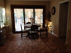 Brick floors in kitchen .....beautiful By Catalina ....Painting & Remodeling Aberdeen,NJ