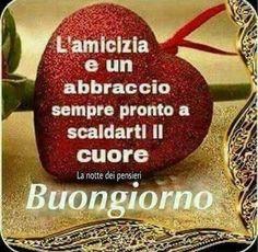 Italian Memes, Italian Quotes, Italian Greetings, Art Of Beauty, Good Morning Good Night, Messages, Good Mood, Diy And Crafts, Christmas Ornaments