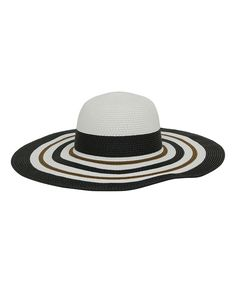 Another great find on #zulily! Magid White & Black Stripe Sunhat by Magid #zulilyfinds