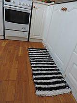 Úžitkový textil - Čiernobiely koberček - 4343759_