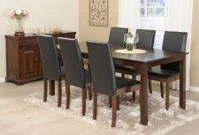 LUCA-pöytä 170x85cm ja NAPOLI-tuolit musta 6kpl