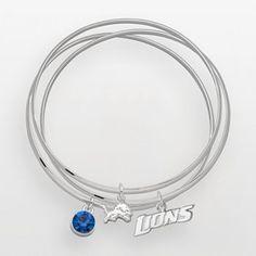 Detroit lions bangle bracelet
