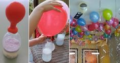 Trick To Inflate Floating Balloons Without Helium Incredible! Do It Now, It's A Great Idea If You Want To Decorate With Balloons! Kids Crafts, Diy And Crafts, Ballon Helium, Floating Balloons, Ideas Para Fiestas, Baby Party, Birthday Decorations, Kids And Parenting, Diy For Kids
