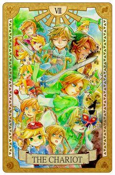 The Chariot, Legend of Zelda, Tarot artwork by 空谷 (Kuukoku)