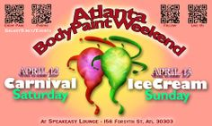 Event Page, Saturday Sunday, Icecream, Body Painting, Crowd, Atlanta, Carnival, Lounge, Bodypainting
