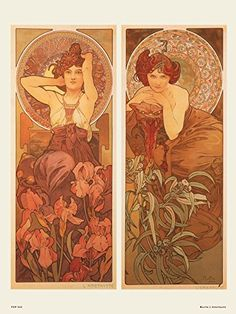 Art nouveau Poster Art Print by Muchal' Amethyste