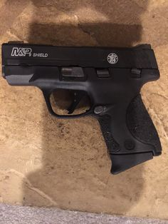 Smith&Wesson shield Apex duty trigger and stippled grips. A work in progress, more to come Smith And Wesson Shield, Smith Wesson, Weapons Guns, Guns And Ammo, M&p Shield 9mm, Edc Tactical, Military Guns, Firearms, Hand Guns