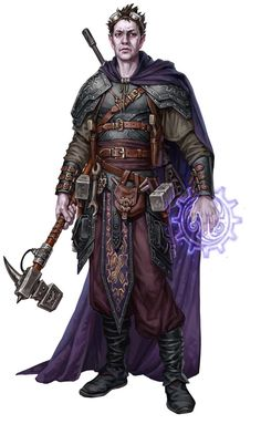 I like the armor look of this... maybe for when Aspen travels. Not main robes while in the keep m Cleric Plate Cloak War Hammer casting Staff Rhune7.png