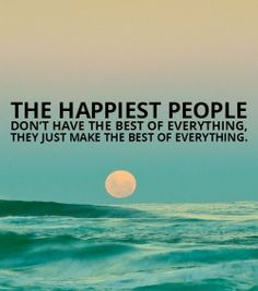 the happiest people.