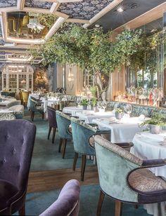 Numa Pompilio- ElleSpain Hotel Restaurant, Restaurant Design, Coffee Places, Vintage Interior Design, Coffee Restaurants, Outdoor Furniture Sets, Outdoor Decor, Commercial Interiors, Viajes