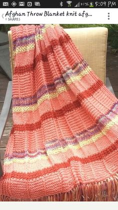 Pretty knitted Afghan