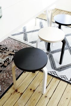 Painted IKEA frosta stool by Susanna Vento