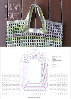 Crochet Market bag. Free pattern